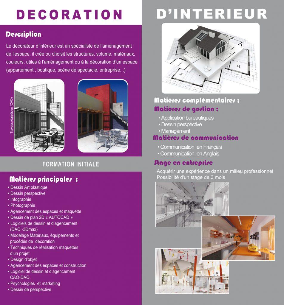 decorateur d interieur ihb art media ecole audiovisuel. Black Bedroom Furniture Sets. Home Design Ideas